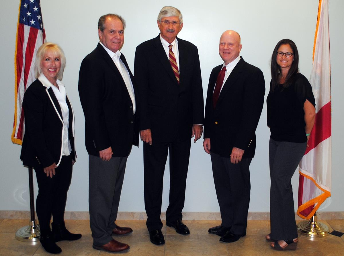 Greater Boca Raton Beach and Park District Commissioners (L to R) Susan Vogelgesang (Chair), Steven Engel, Robert Rollins, Craig Ehrnst and Erin Wright (Vice-Chair) voted to reduce the millage rate for the 2021 fiscal year.